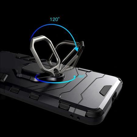 Etui na Samsung Galaxy A50 - Pancerne Magnet Ring - Czarny.