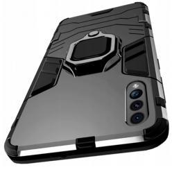 Etui na Samsung Galaxy A70 Pancerne Magnet Ring - Czarny.