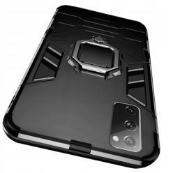 Etui na Samsung Galaxy S20 FE Pancerne Magnet Ring - Czarny.