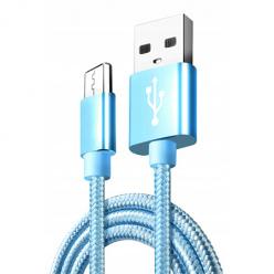 Kabel Micro-USB do szybkiego ładowania QUICK CHARGE 3.0 - Niebieski.