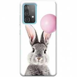 Etui na Samsung Galaxy A52 5G Wesoły królik z balonikiem