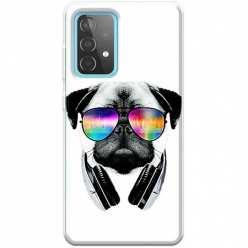 Etui na Samsung Galaxy A52 5G Piesek w okularach DJ