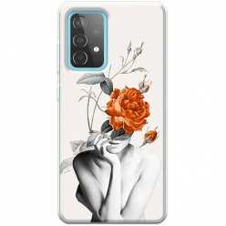 Etui na Samsung Galaxy A52 5G Abstrakcyjna Kobieta z różami