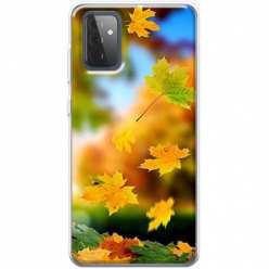 Etui na Samsung Galaxy A72 5G Jesienne liście spadające