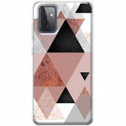 Etui na Samsung Galaxy A72 5G Abstrakcyjne trójkąty