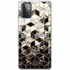 Etui na Samsung Galaxy A72 5G Geometryczny marmur czarno biały