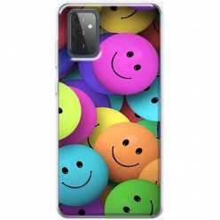 Etui na Samsung Galaxy A72 5G Wesołe kulki kolorowe