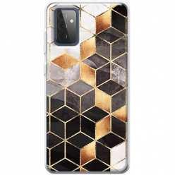 Etui na Samsung Galaxy A72 5G Złote romby geometryczne