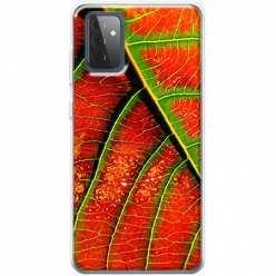 Etui na Samsung Galaxy A72 5G Czerwony liść jesienny