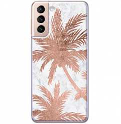 Etui na Samsung Galaxy S21 Plus Palmy rose gold