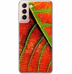 Etui na Samsung Galaxy S21 Plus Czerwony liść jesienny