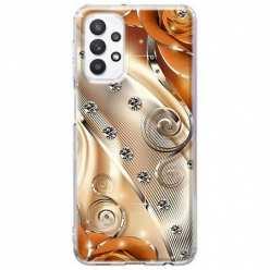 Etui na Samsung Galaxy A32 5G Metaliczne nuty
