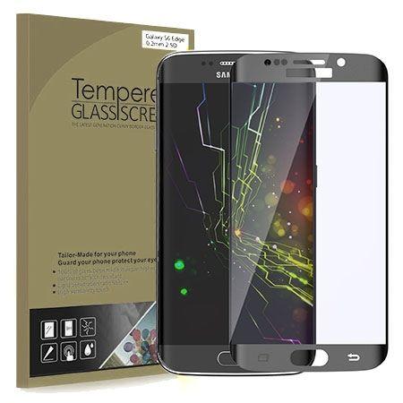 Galaxy S6 Edge Hartowane szkło na cały ekran 3D - Czarny