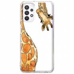 Etui na Samsung Galaxy A32 5G Ciekawska żyrafa