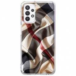 Etui na Samsung Galaxy A32 5G Pomięty szalik w kratkę