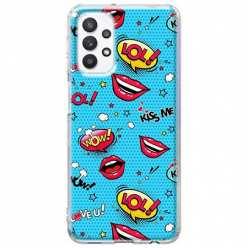 Etui na Samsung Galaxy A32 5G Kiss Me… LOL! Usta