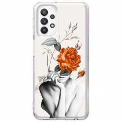 Etui na Samsung Galaxy A32 5G Abstrakcyjna Kobieta z różami
