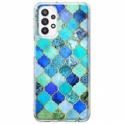 Etui na Samsung Galaxy A32 5G Błękitny damaszek
