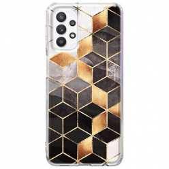 Etui na Samsung Galaxy A32 5G Złote romby geometryczne