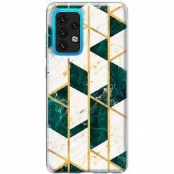 Etui na Samsung Galaxy A02s Szmaragdowy marmur