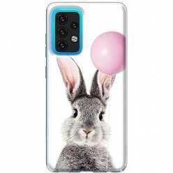 Etui na Samsung Galaxy A02s Wesoły królik z balonikiem