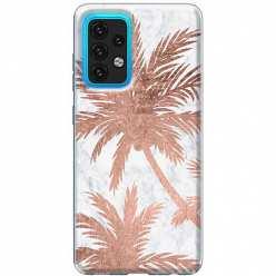 Etui na Samsung Galaxy A02s Palmy rose gold