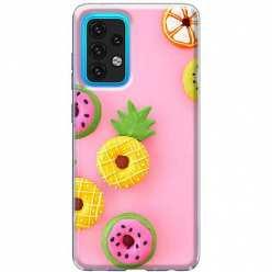 Etui na Samsung Galaxy A02s Kolorowe pączki owocowe