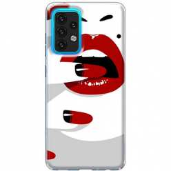 Etui na Samsung Galaxy A02s Namiętne czerwone usta