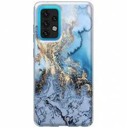 Etui na Samsung Galaxy A02s Błękitny marmur