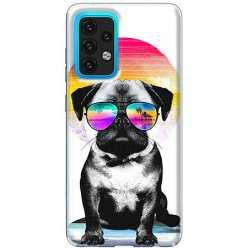 Etui na Samsung Galaxy A02s Piesek w okularach