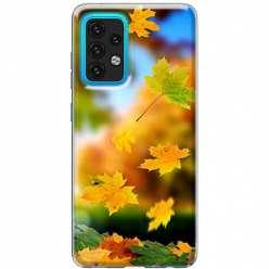 Etui na Samsung Galaxy A02s Jesienne liście spadające