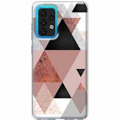 Etui na Samsung Galaxy A02s Abstrakcyjne trójkąty