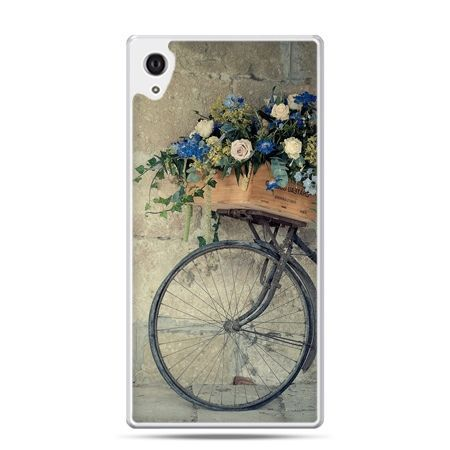 Etui na Xperia M4 Aqua rower z kwiatami