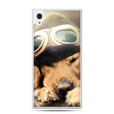 Etui na Xperia M4 Aqua pies w okularach