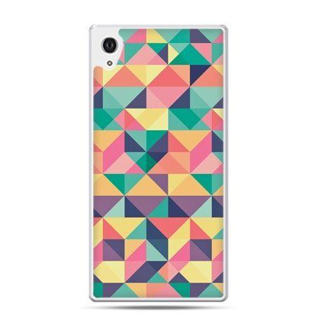 Etui na Xperia M4 Aqua kolorowe trójkąty