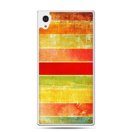 Etui na Xperia M4 Aqua kolorowe pasy