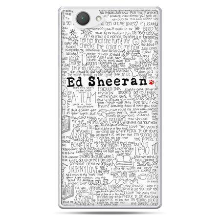 Xperia Z1 compact etui Ed Sheeran białe poziome