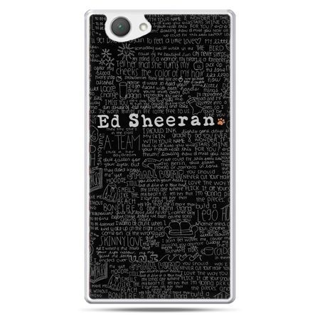 Xperia Z1 compact etui ED Sheeran czarne poziome