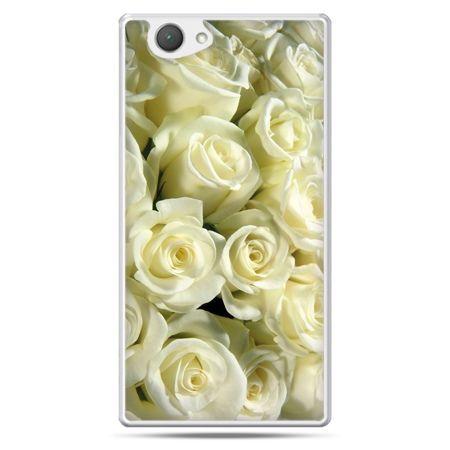 Xperia Z1 compact etui białe róże