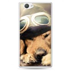 Xperia Z1 compact etui pies w okularach
