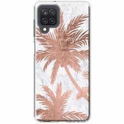 Etui na Samsung Galaxy M12 Palmy rose gold