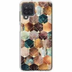 Etui na Samsung Galaxy M12 Marmurowe romby