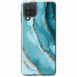 Etui na Samsung Galaxy M12 Błękitny Agat