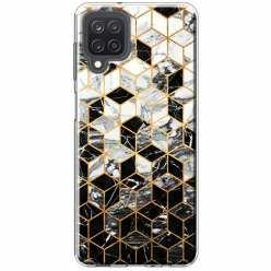 Etui na Samsung Galaxy M12 Geometryczny marmur czarno biały
