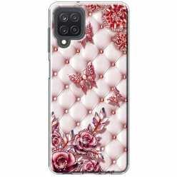 Etui na Samsung Galaxy M12 Motyle z różami Glamour