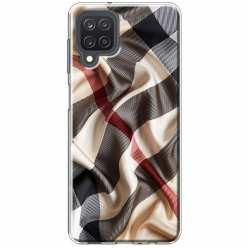 Etui na Samsung Galaxy M12 Pomięty szalik w kratkę