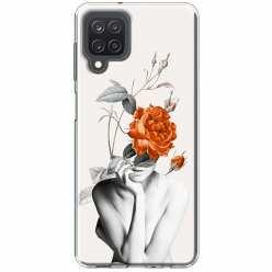 Etui na Samsung Galaxy M12 Abstrakcyjna Kobieta z różami
