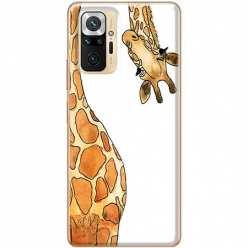 Etui na Xiaomi Redmi Note 10 Pro Ciekawska żyrafa