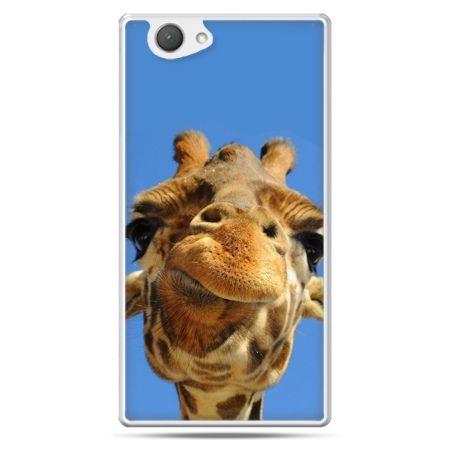 Xperia Z1 compact etui zabawna żyrafa