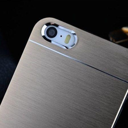iPhone 4 4s etui Motomo aluminium srebrny
